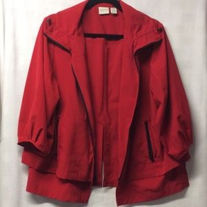Chico's Zenergy 3/4 sleeve red zip up jacket